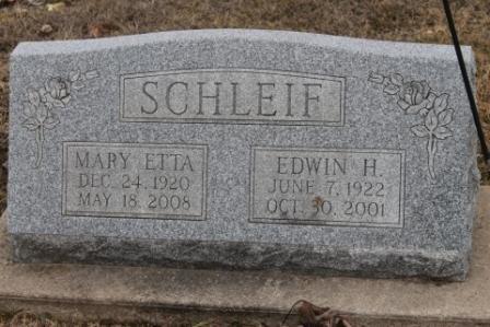 SCHLEIF, EDWIN H. - Lee County, Iowa   EDWIN H. SCHLEIF