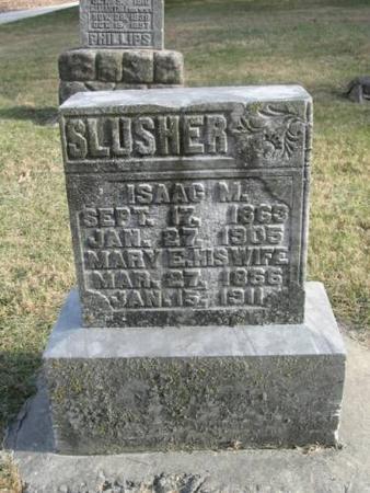 SLUSHER, ISAAC M. & MARY E. - Lee County, Iowa | ISAAC M. & MARY E. SLUSHER