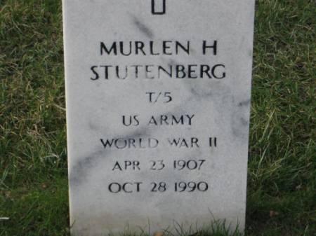 STUTENBERG, MURLEN  H. - Lee County, Iowa   MURLEN  H. STUTENBERG