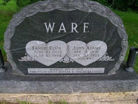 WARE, FANNIE ELIZA - Lee County, Iowa | FANNIE ELIZA WARE