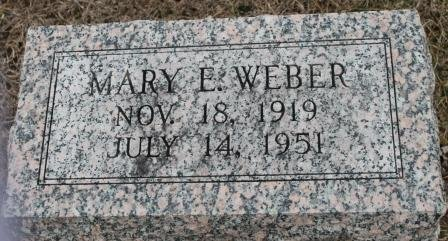 WEBER, MARY E. - Lee County, Iowa   MARY E. WEBER