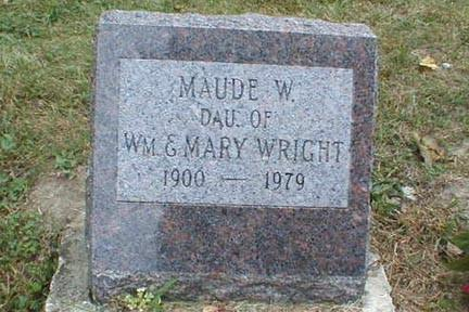 WRIGHT, MAUDE W. - Lee County, Iowa | MAUDE W. WRIGHT