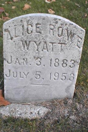 ROWE WYATT, ALICE - Lee County, Iowa | ALICE ROWE WYATT