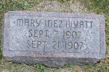 WYATT, MARY INEZ - Lee County, Iowa | MARY INEZ WYATT