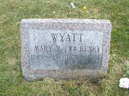 WYATT, MARY M. - Lee County, Iowa | MARY M. WYATT