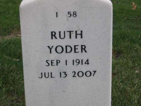YODER, RUTH - Lee County, Iowa   RUTH YODER