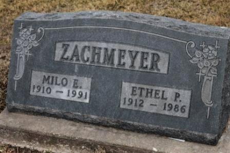 ZACHMEYER, ETHEL PAULINE - Lee County, Iowa | ETHEL PAULINE ZACHMEYER
