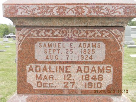 ADAMS, ADALINE - Linn County, Iowa | ADALINE ADAMS
