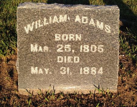 ADAMS, WILLIAM - Linn County, Iowa   WILLIAM ADAMS