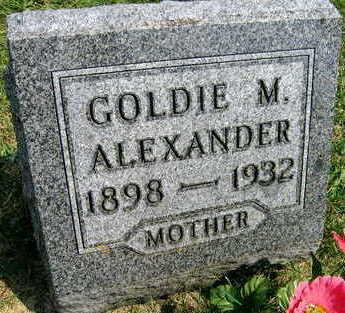 ALEXANDER, GOLDIE M. - Linn County, Iowa | GOLDIE M. ALEXANDER