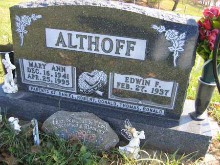 ALTHOFF, MARY ANN - Linn County, Iowa   MARY ANN ALTHOFF