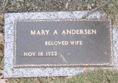 ANDERSEN, MARY A - Linn County, Iowa   MARY A ANDERSEN