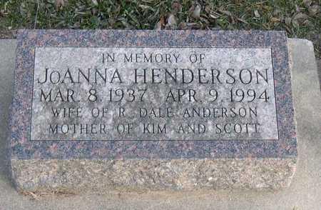 HENDERSON ANDERSON, JOANNA - Linn County, Iowa | JOANNA HENDERSON ANDERSON