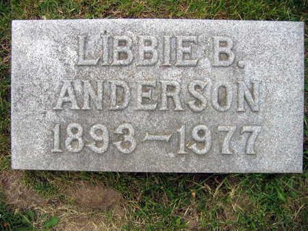 ANDERSON, LIBBIE B. - Linn County, Iowa   LIBBIE B. ANDERSON