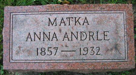 ANDRLE, ANNA - Linn County, Iowa | ANNA ANDRLE