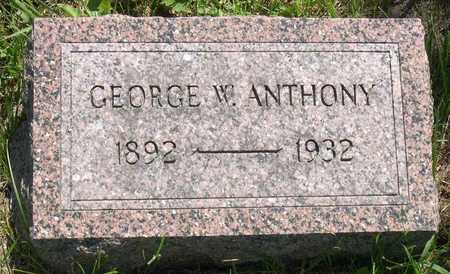 ANTHONY, GEORGE W. - Linn County, Iowa | GEORGE W. ANTHONY