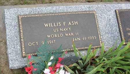 ASH, WILLIS F. - Linn County, Iowa   WILLIS F. ASH