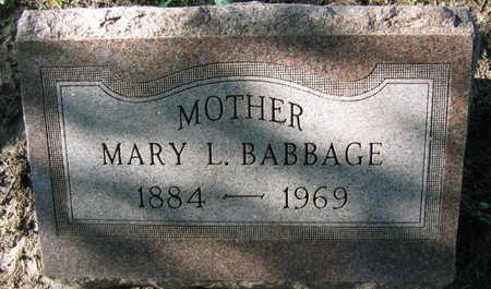 BABBAGE, MARY L. - Linn County, Iowa | MARY L. BABBAGE