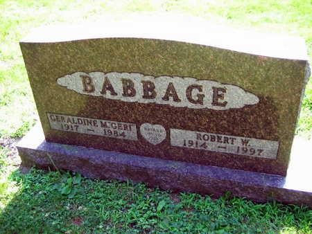 BABBAGE, GERALDINE M. - Linn County, Iowa | GERALDINE M. BABBAGE