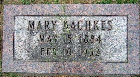 BACHKES, MARY - Linn County, Iowa | MARY BACHKES