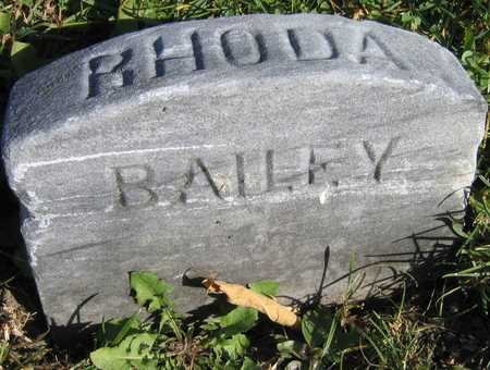 BAILEY, RHODA - Linn County, Iowa | RHODA BAILEY
