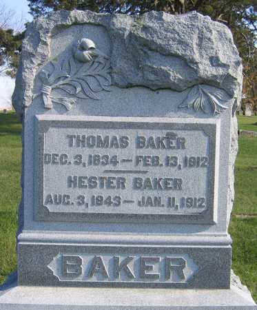 BAKER, HESTER - Linn County, Iowa | HESTER BAKER