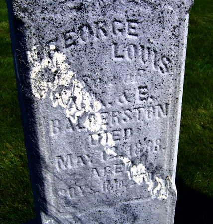 BALDERSTON, GEORGE LOUIS - Linn County, Iowa | GEORGE LOUIS BALDERSTON