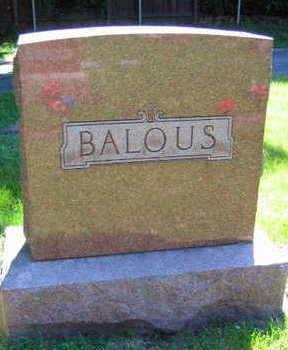 BALOUS, FAMILY STONE - Linn County, Iowa | FAMILY STONE BALOUS