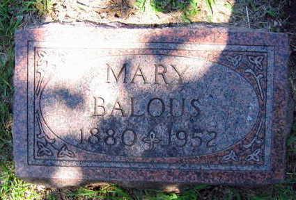 BALOUS, MARY - Linn County, Iowa | MARY BALOUS