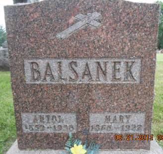 BALSANEK, ANTON - Linn County, Iowa | ANTON BALSANEK