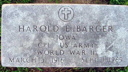 BARGER, HAROLD E. - Linn County, Iowa | HAROLD E. BARGER