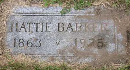 BARKER, HATTIE - Linn County, Iowa   HATTIE BARKER