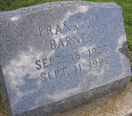 BARNES, FRANK A. - Linn County, Iowa | FRANK A. BARNES