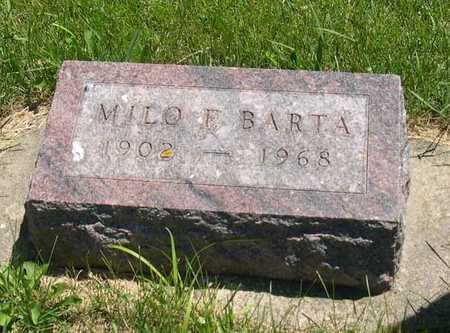 BARTA, MILO E. - Linn County, Iowa | MILO E. BARTA