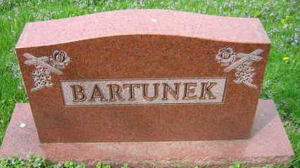 BARTUNEK, FAMILY STONE - Linn County, Iowa   FAMILY STONE BARTUNEK