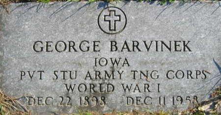 BARVINEK, GEORGE - Linn County, Iowa | GEORGE BARVINEK