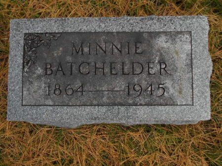 BATCHELDER, MINNIE - Linn County, Iowa | MINNIE BATCHELDER