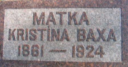 BAXA, KRISTINA - Linn County, Iowa | KRISTINA BAXA