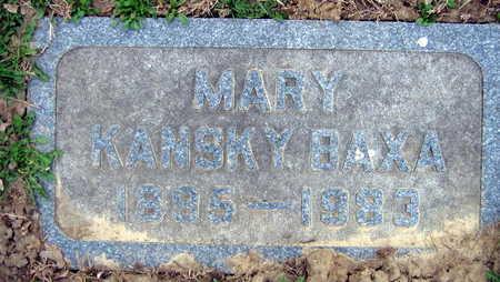 BAXA, MARY - Linn County, Iowa | MARY BAXA