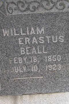 BEALL, WILLIAM ERASTUS - Linn County, Iowa   WILLIAM ERASTUS BEALL