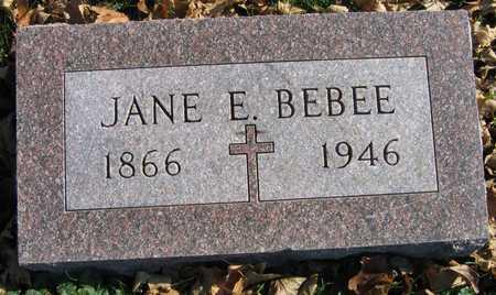 BEBEE, JANE E. - Linn County, Iowa | JANE E. BEBEE