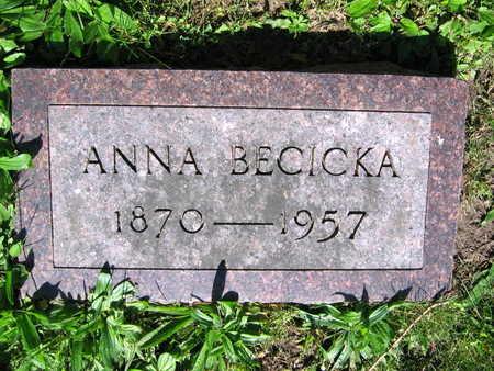 BECICKA, ANNA - Linn County, Iowa   ANNA BECICKA
