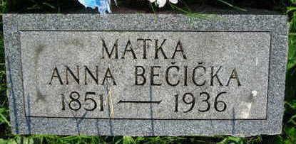 BECICKA, ANNA - Linn County, Iowa | ANNA BECICKA