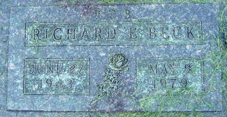 BECK, RICHARD E. - Linn County, Iowa | RICHARD E. BECK