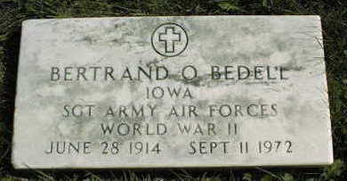 BEDELL, BERTRAND O. - Linn County, Iowa | BERTRAND O. BEDELL