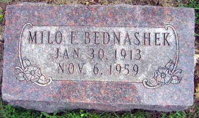 BEDNASHEK, MILO E. - Linn County, Iowa | MILO E. BEDNASHEK