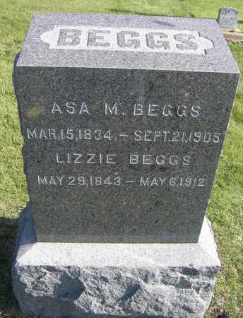 BEGGS, LIZZIE - Linn County, Iowa   LIZZIE BEGGS