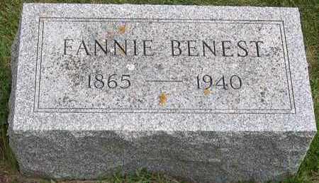 BENEST, FANNIE - Linn County, Iowa | FANNIE BENEST