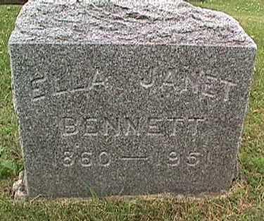 BENNETT, ELLA JANET - Linn County, Iowa | ELLA JANET BENNETT