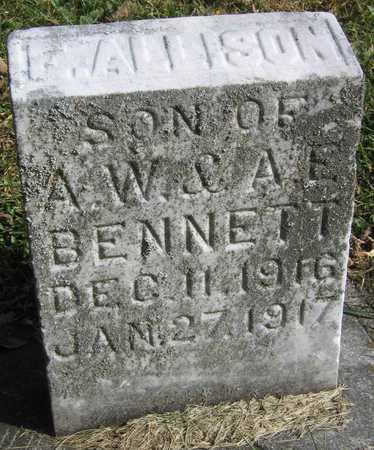 BENNETT, F. ALLISON - Linn County, Iowa   F. ALLISON BENNETT